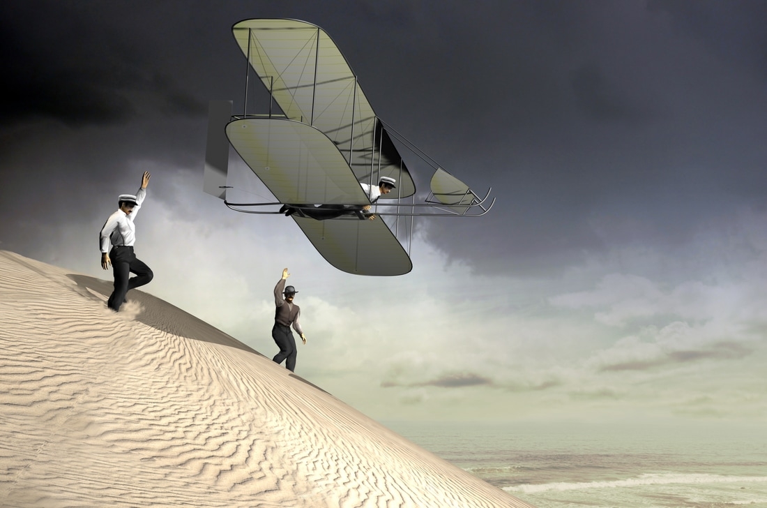 Wilbur and Orvill Wright, pioneers of air flight